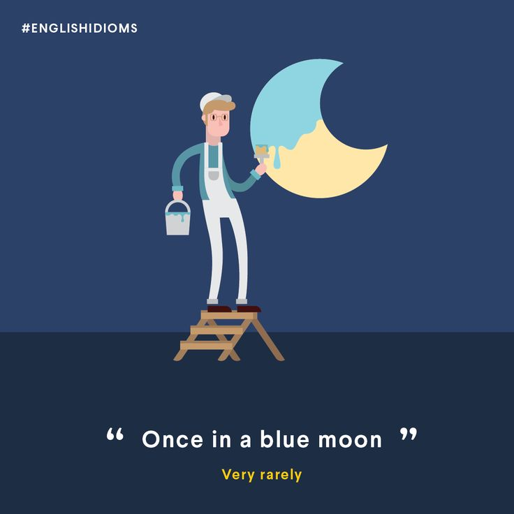 once in a blue moon english expression